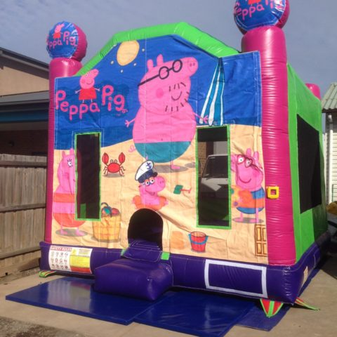 Peppa pig jumping castle hire Geelong