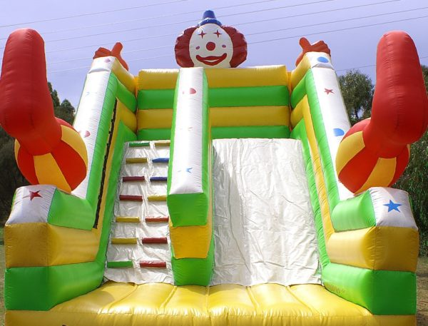 Bobo the clown slide jumping castle hire Geelong