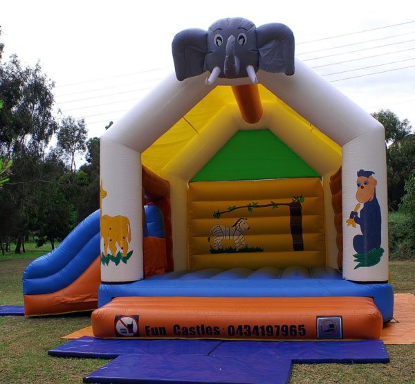 Jungle safari combo jumping castle hire Geelong