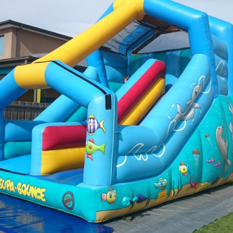 Supa bounce sea slide jumping castle hire Geelong